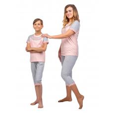 Пижама Нежность серая (футболка+бриджи) М-0124СС+Д-0007СС