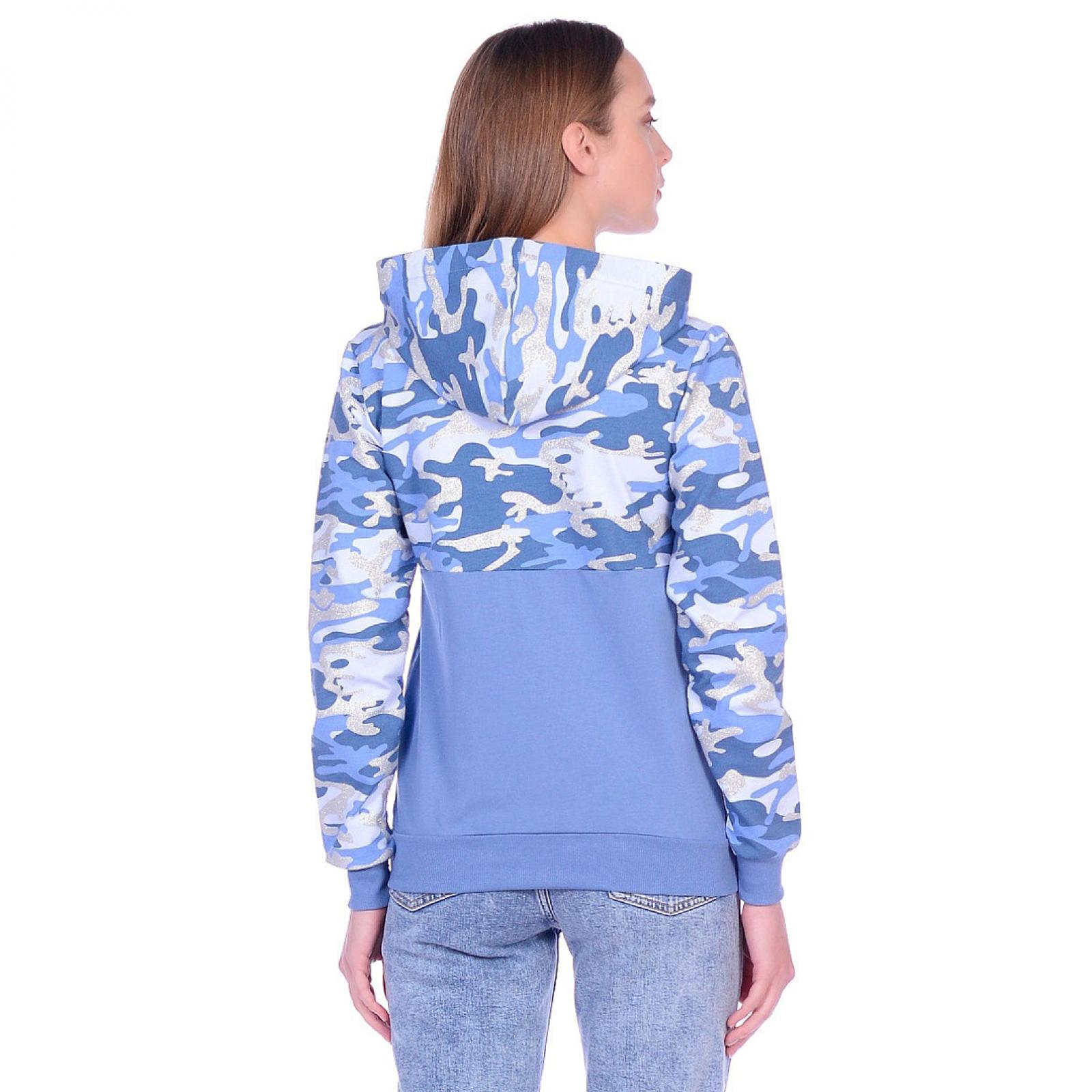 Толстовка голубая Камуфляж (серебро) М-0176Г