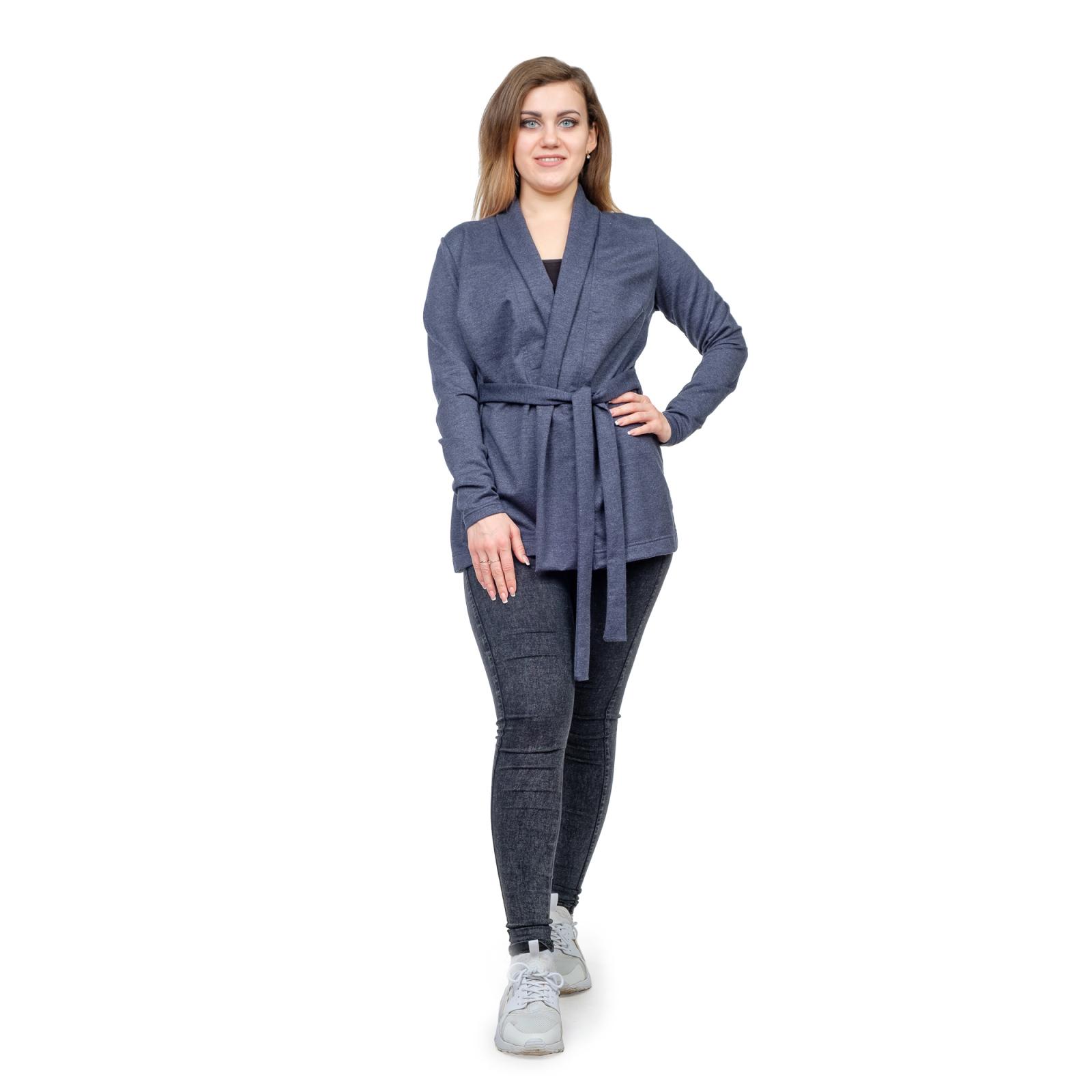 Кардиган синий (футер) М-0157С