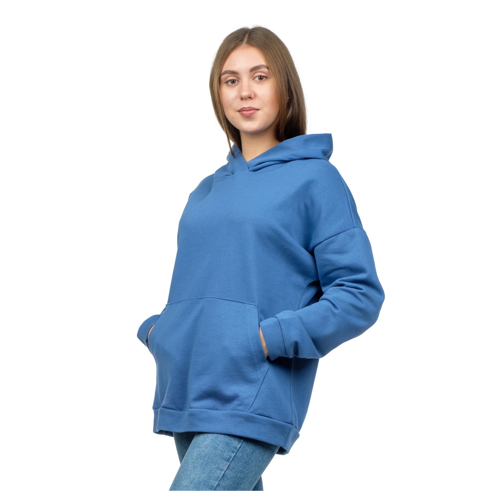 Худи оверсайз Синее (футер-петля) М-0144С