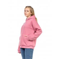 Худи оверсайз розовое (футер с начёсом, планка) М-0144Р
