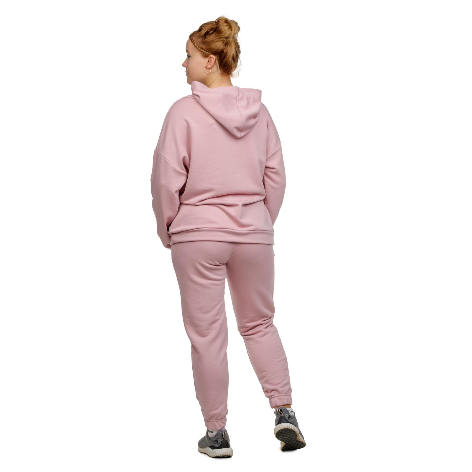 Худи оверсайз Розовая пудра (футер-петля) М-0144ПУД