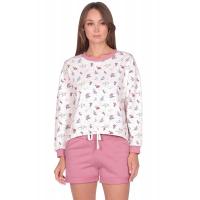 Костюм розовый Цветы (шорты+кофта) М-0171Р