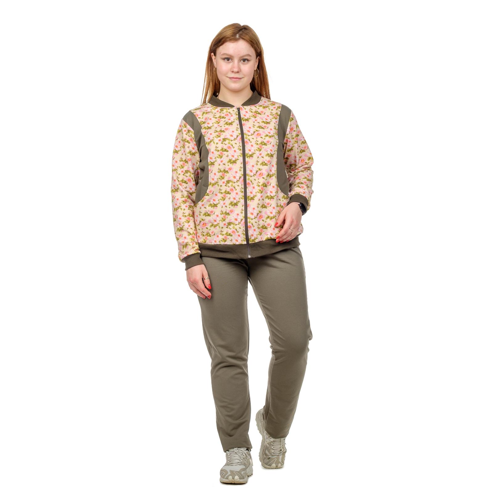 Костюм (кофта+брюки) Желтый с цветами М-0034Ж