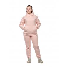 Костюм с начёсом Бледно-розовый меланж (худи+брюки) М-0186Р