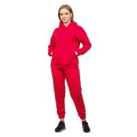 Костюм футер-петля Красный (худи+брюки) М-0186К