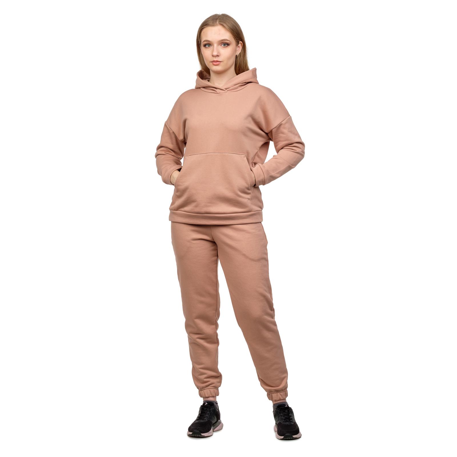 Костюм футер-петля Бежевый (худи+брюки) М-0186БЕЖ