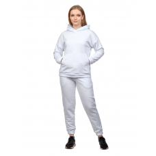 Костюм футер-петля Белый (худи+брюки) М-0186Б