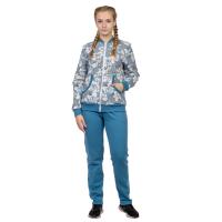 Костюм Серый нарцисс (футер, кофта+брюки) М-0185СС