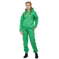Костюм футер с начёсом Зелёный (худи+брюки) М-0186З