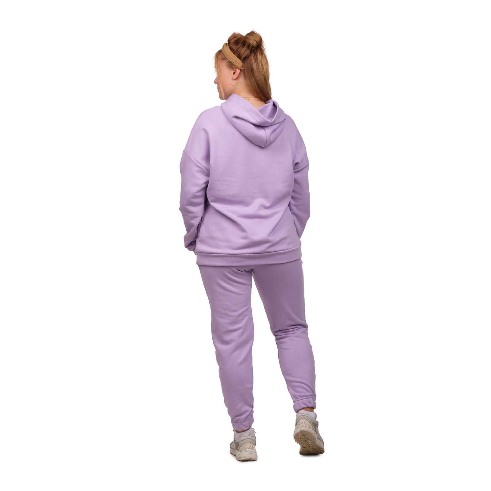Костюм футер-петля Лиловый (худи+брюки) М-0186Л
