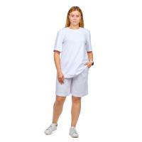Костюм (футболка + шорты) белый М-0204Б