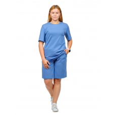 Костюм (футболка + шорты) серо-голубой М-0204СС