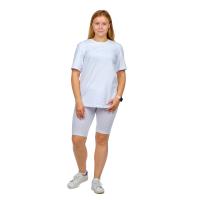 Костюм (футболка + велосипедки) Белый М-0145Б