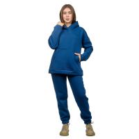 Костюм с начёсом Синий  (худи+брюки) М-186С