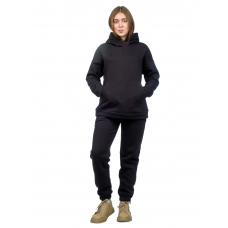 Костюм с начёсом Чёрный  (худи+брюки) М-186Ч