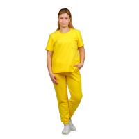 Костюм (футер 2-нитка) Жёлтый (футболка+брюки) М-0201Ж