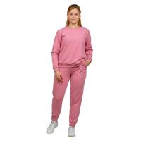 Костюм (футер 2-нитка) Розовая пудра (джемпер+брюки) М-0187ПУД