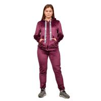 Костюм (велюр) Баклажан (брюки+кофта на замке) М-0151БАК