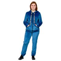 Костюм велюровый Синий (брюки+кофта на замке) М-0151С