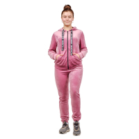 Костюм (велюр) Розовый (брюки+кофта на замке) М-0151Р