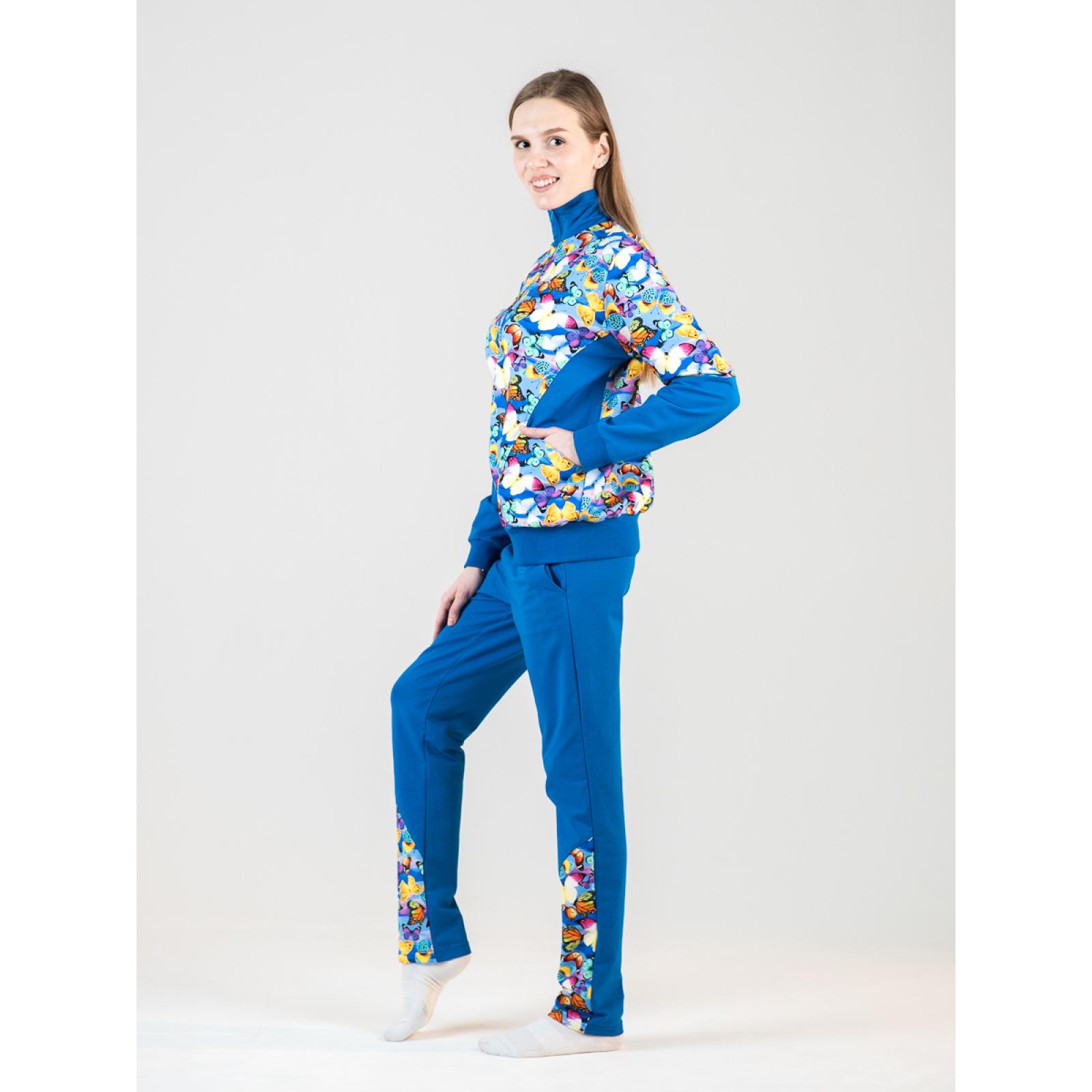 Костюм комбинированный голубой Бабочки М-0026Г
