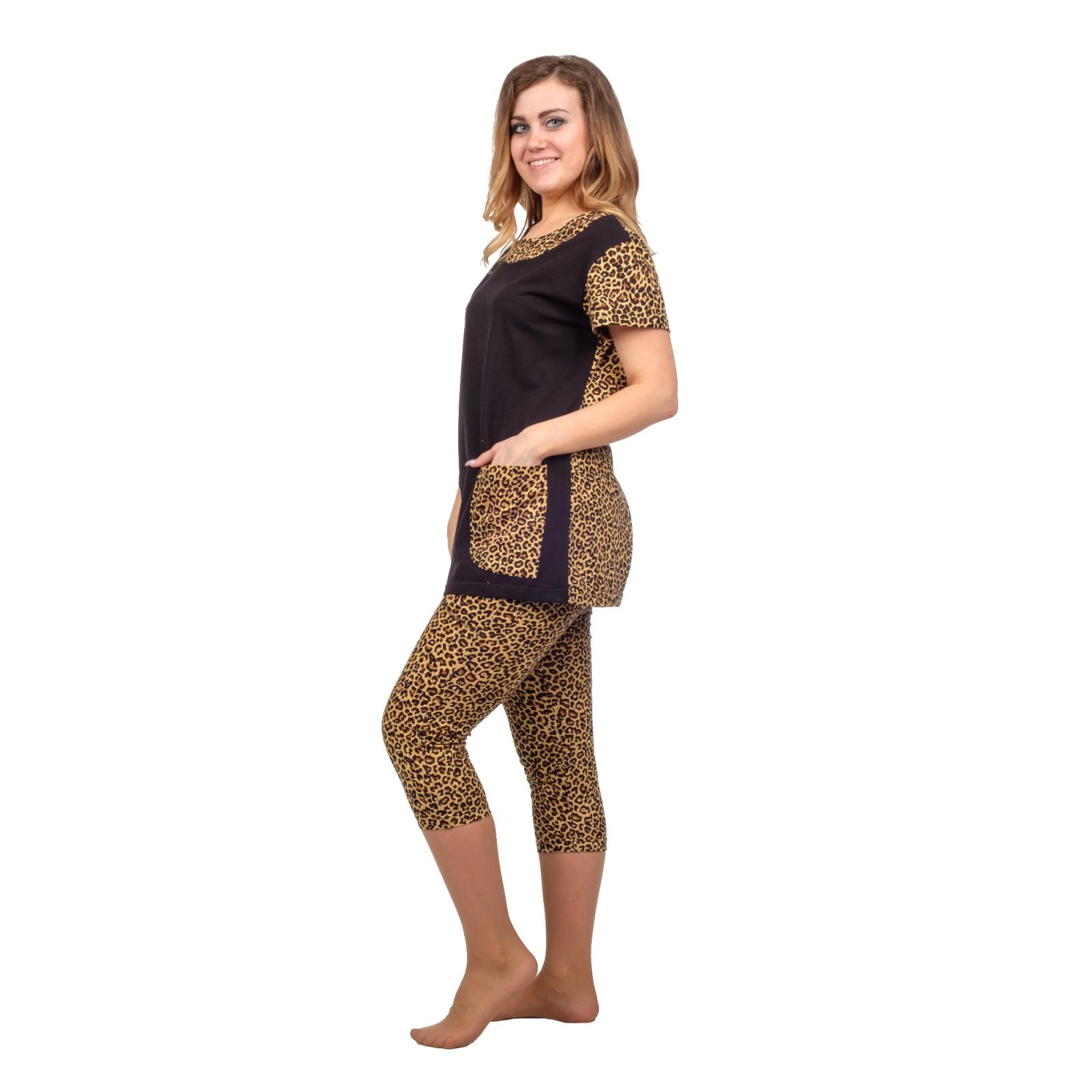 Домашний костюм Леопард (бриджи+туника) М-0113Ч