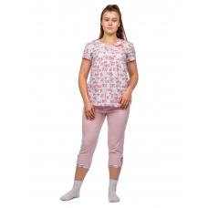 Домашний костюм Бантик (розовые бабочки-цветочки) М-0066Р