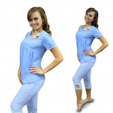 Домашний костюм Голубая клетка М-0066Г
