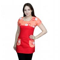 Туника с карманами Оранжевое яблоко М-0060