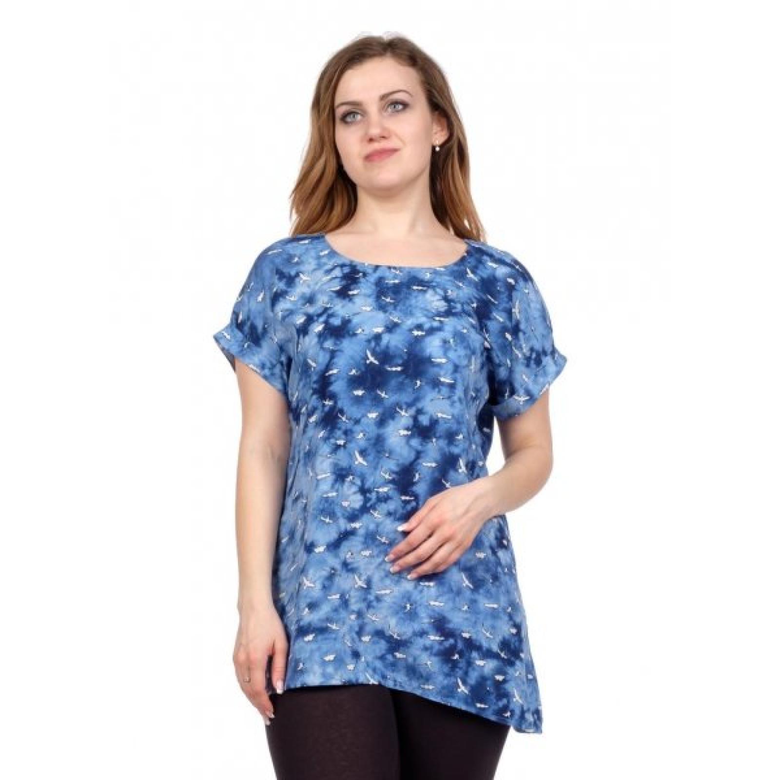 Блуза синяя (чайки) М-0111С