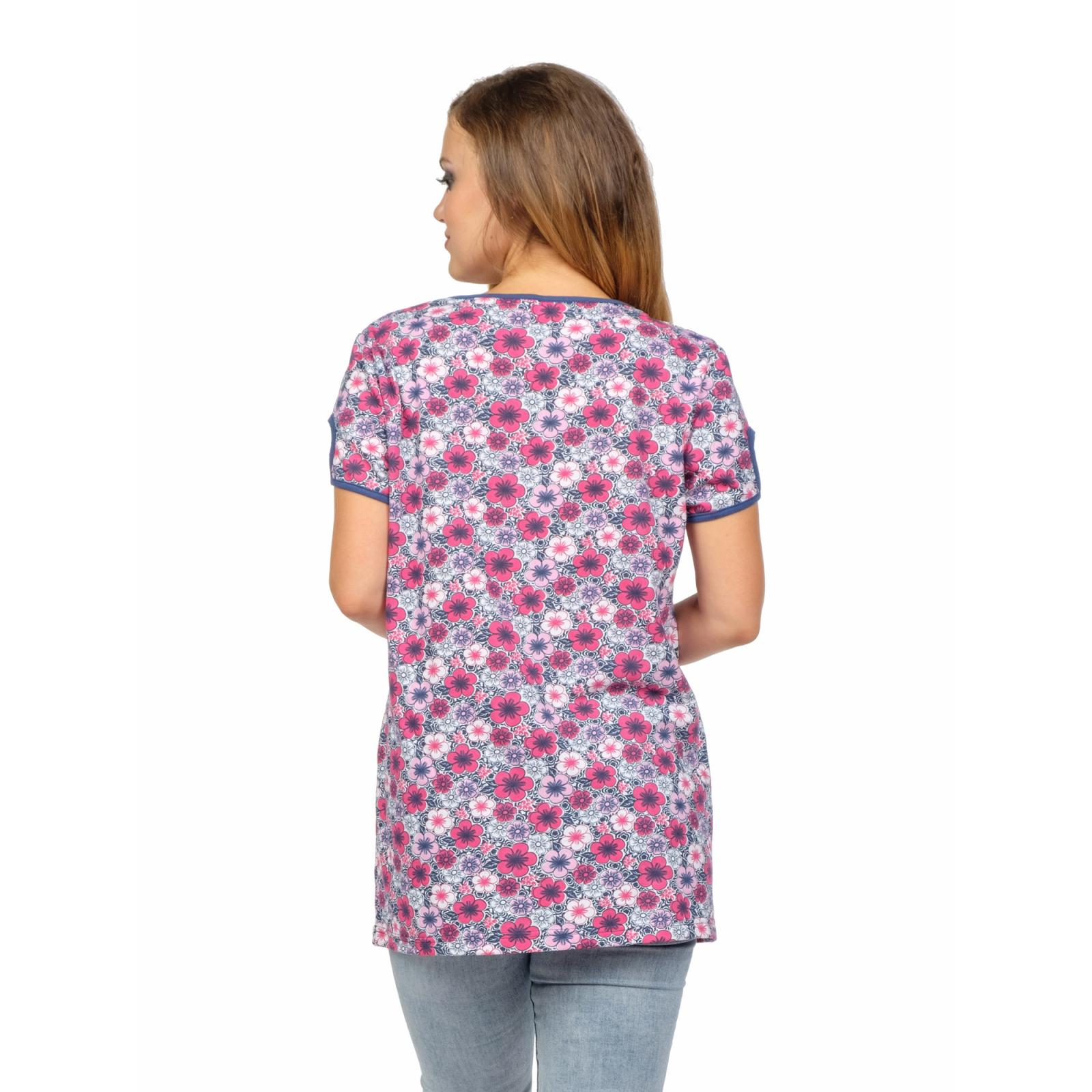 Туника розовая Цветы М-0131Р