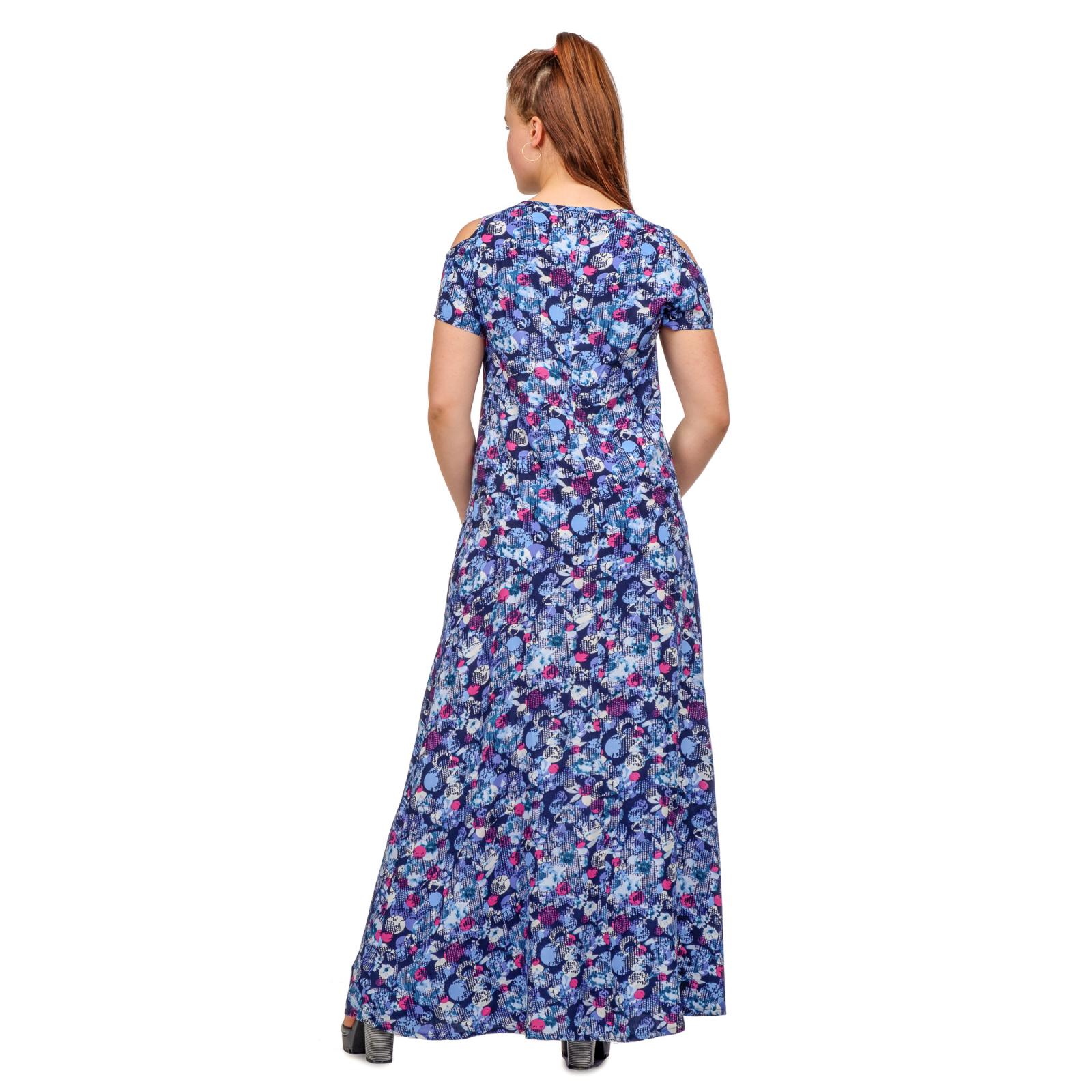 Платье длинное в ассортименте (синее)