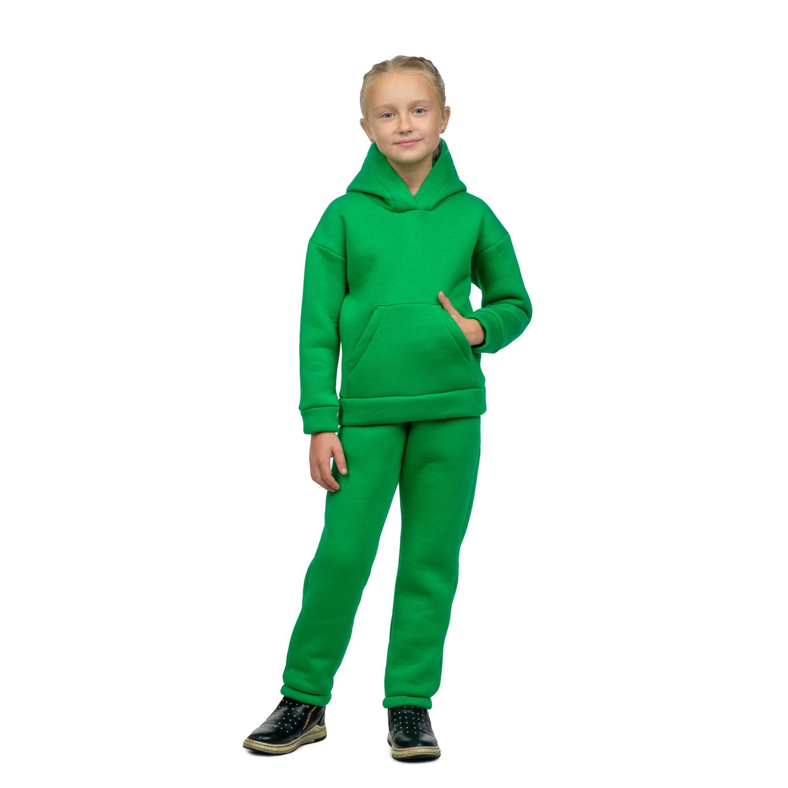 Костюм детский с начёсом Зелёный (худи + брюки) Д-0021З