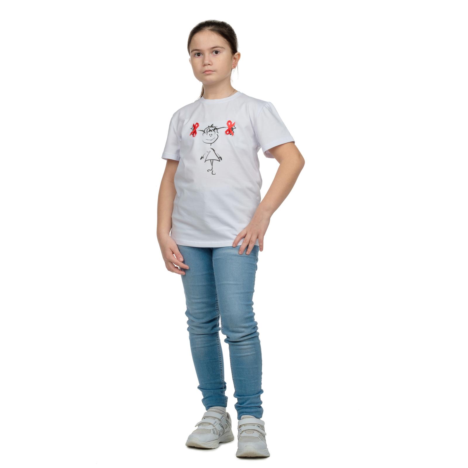 Футболка детская (белая) принт Девочка Д-0001Б