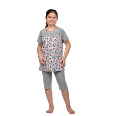 Пижама  детская Зайки (футболка + бриджи) Д-0007Б