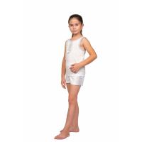 Костюм домашний детский Мария (белый) Д-0009Б