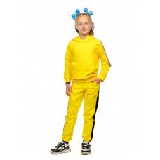 Костюм  детский (худи + брюки) Жёлтый (футер 2-нитка) Д-0020Ж