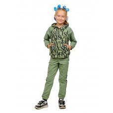Костюм  детский (худи + брюки) Мята, буквы (футер 2-нитка) Д-0020М