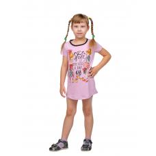 Платье детское Сирень (принт - Дама с собачкой) Д-0001СИР