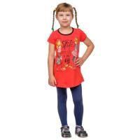 Платье детское красное (принт - Дама с собачкой) Д-0001К