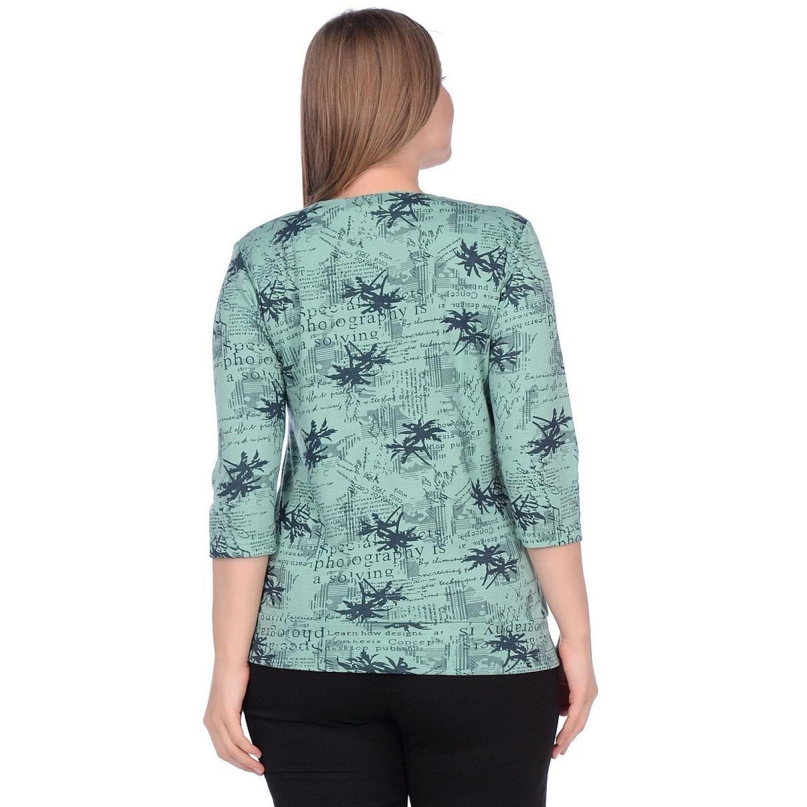 Блуза зелёная Пальмы (академик) М-0141З