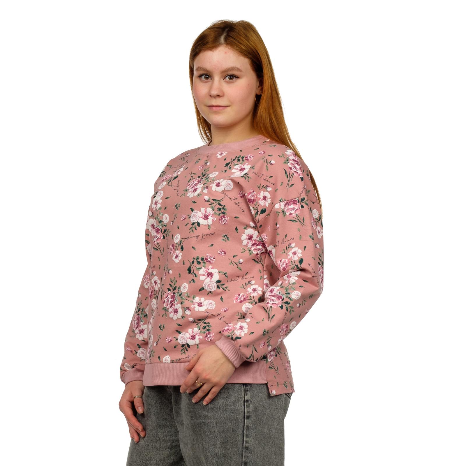 Джемпер (розовая пудра) Цветы М-0143ПУД