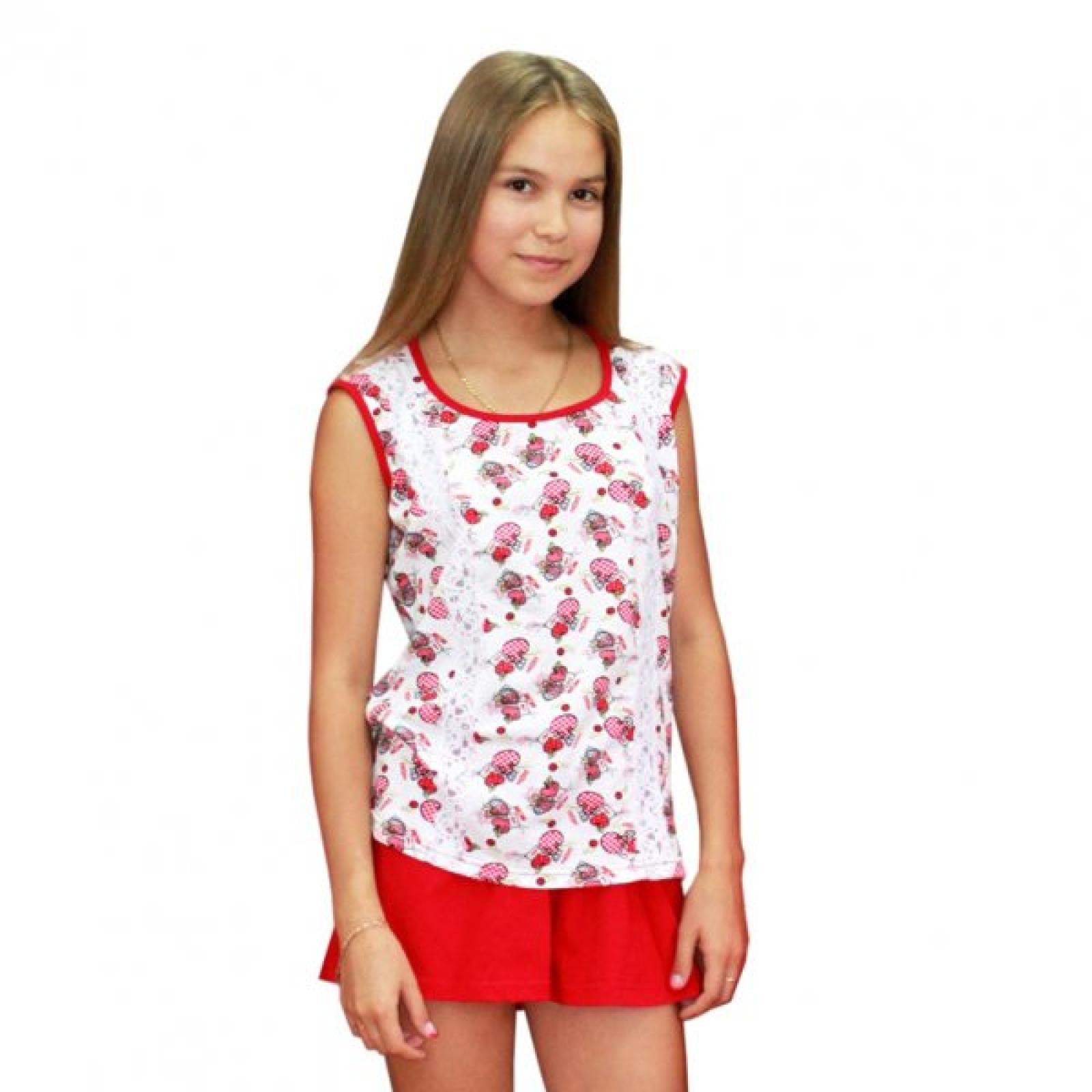 Пижама Love(майка+шорты, гипюр) М-0029