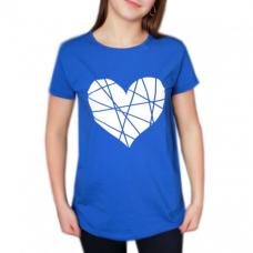 Футболка василёк (синий) Сердце М-0036В