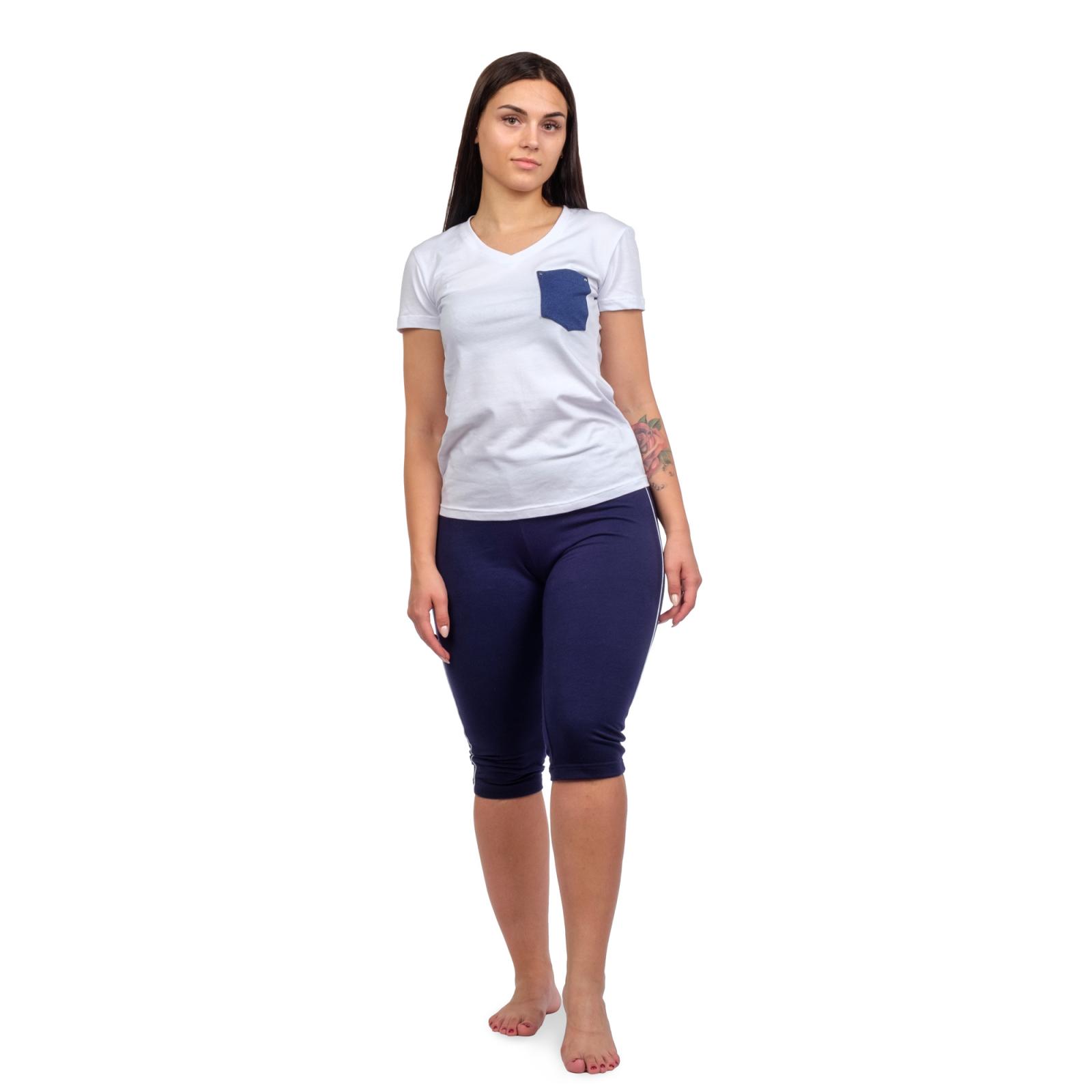 Футболка белая (карман - джинса) М-0126Б