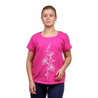 Футболка (розовая) принт Колокольчик М-0013Р