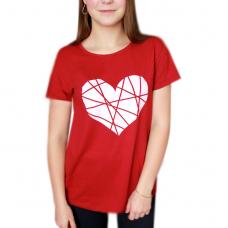 Футболка (бордо) Сердце М-0036БОР