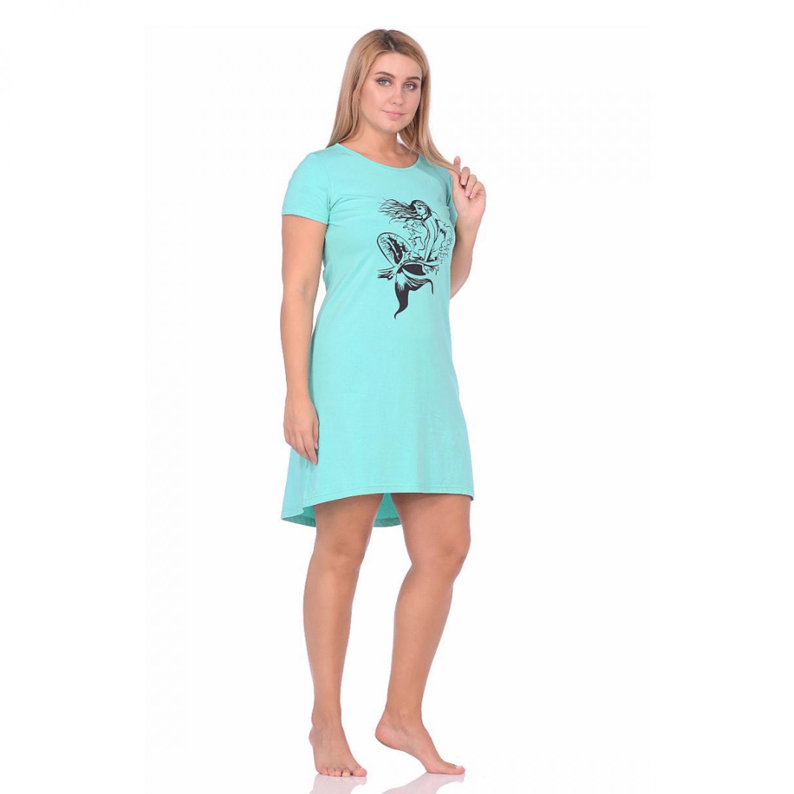 Платье бирюза (принт) М-0072БИР