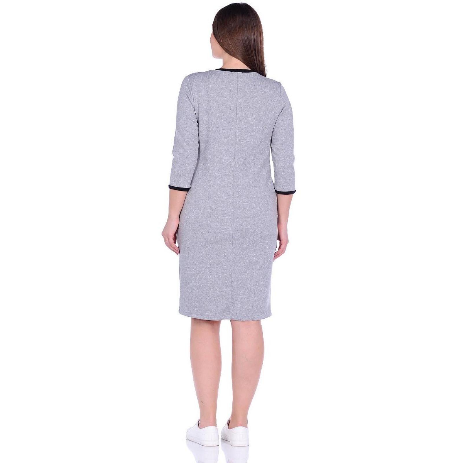 Платье серое с карманами NICE М-0163СС